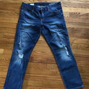 Woman's distressed jeans